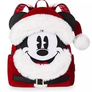Loungefly Santa Mickey mini backpack